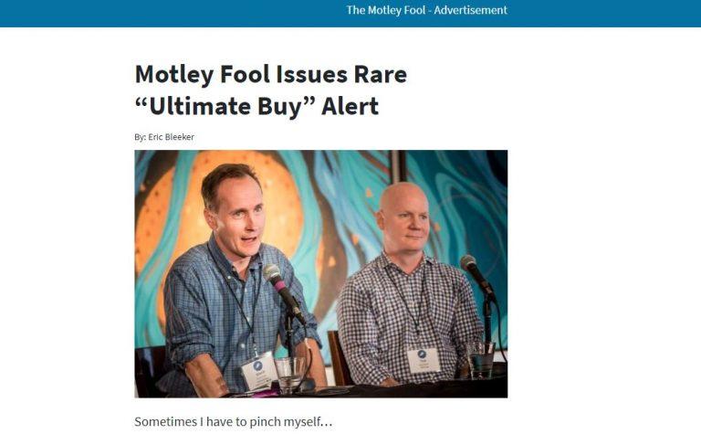 Motley Fool Issues Rare Ultimate Buy Alert