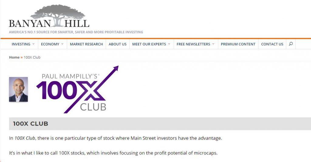 Paul Mampilly 100X Club