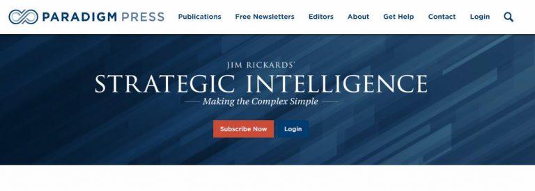 Jim Rickards Strategic Intelligence