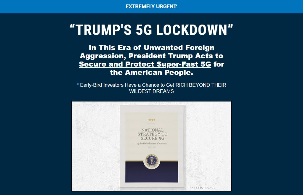 Trumps 5G Lockdown king of 5g turbo button