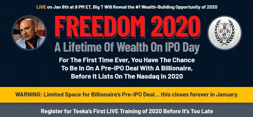 Teeka Tiwari's Freedom 2020