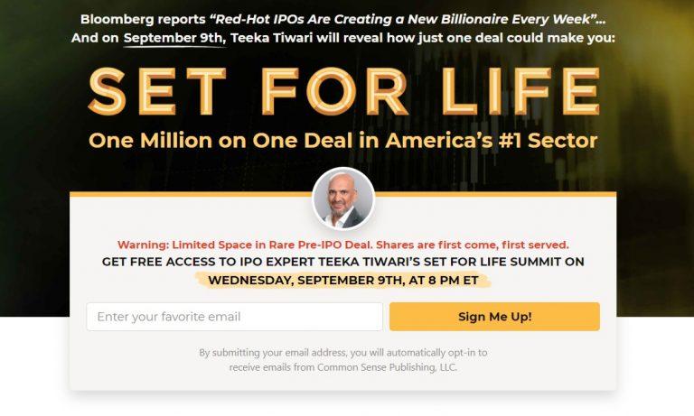 Teeka Tiwari Set For Life Summit