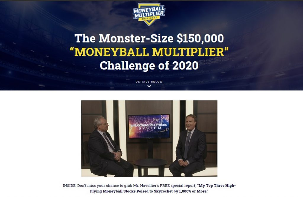 Moneyball Multiplier Challenge 2020 by Louis Navellier