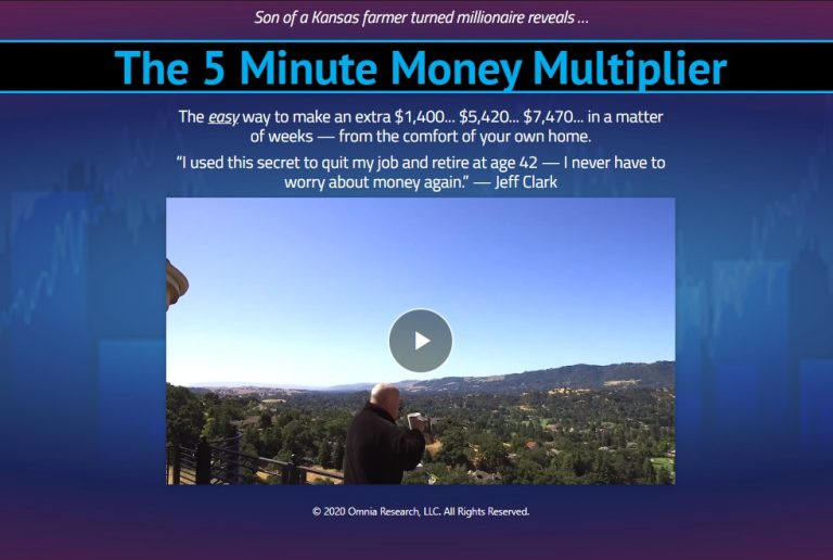 The 5 Minute Money Multiplier by Jeff Clark