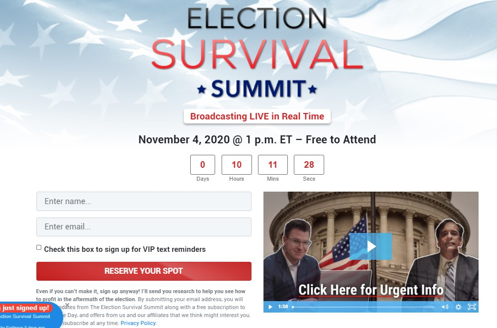 Election Survival Summit by Bryan Bottarelli and Karim Rahemtulla