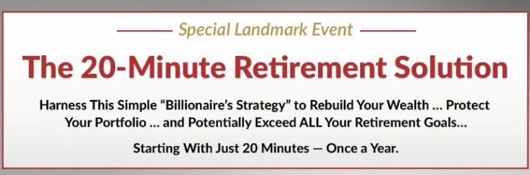 20 Minute Retirement Solution
