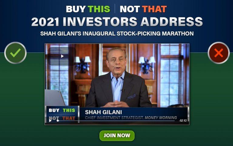 Shah Gilani's 2021 Investors Address