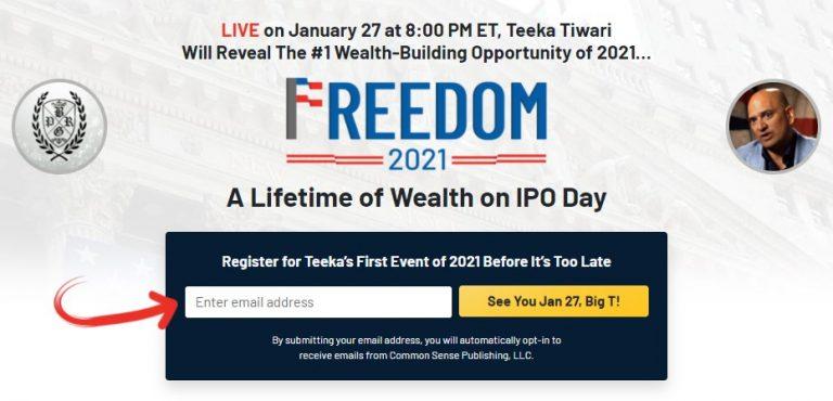Teeka Tiwaris Freedom 2021