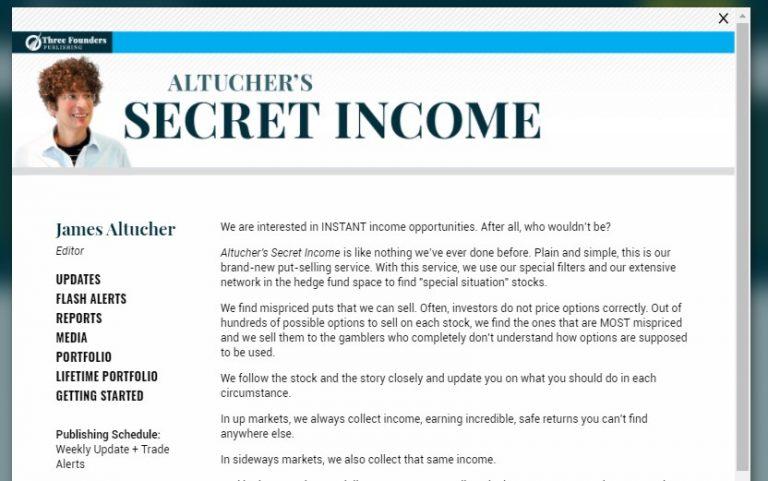Altucher's Secret Income
