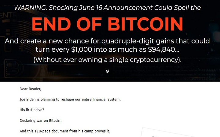 Chris DeHaemer's End Of Bitcoin Pitch