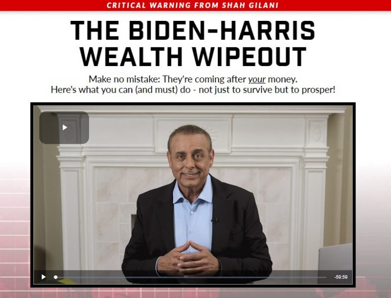 The Biden-Harris Wealth Wipeout by Shah Gilani