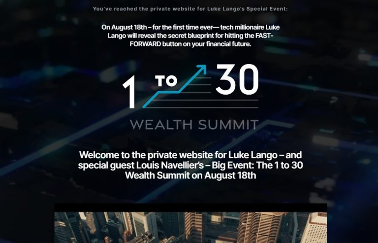 Luke Lango and Louis Navellier's 1 To 30 Wealth Summit